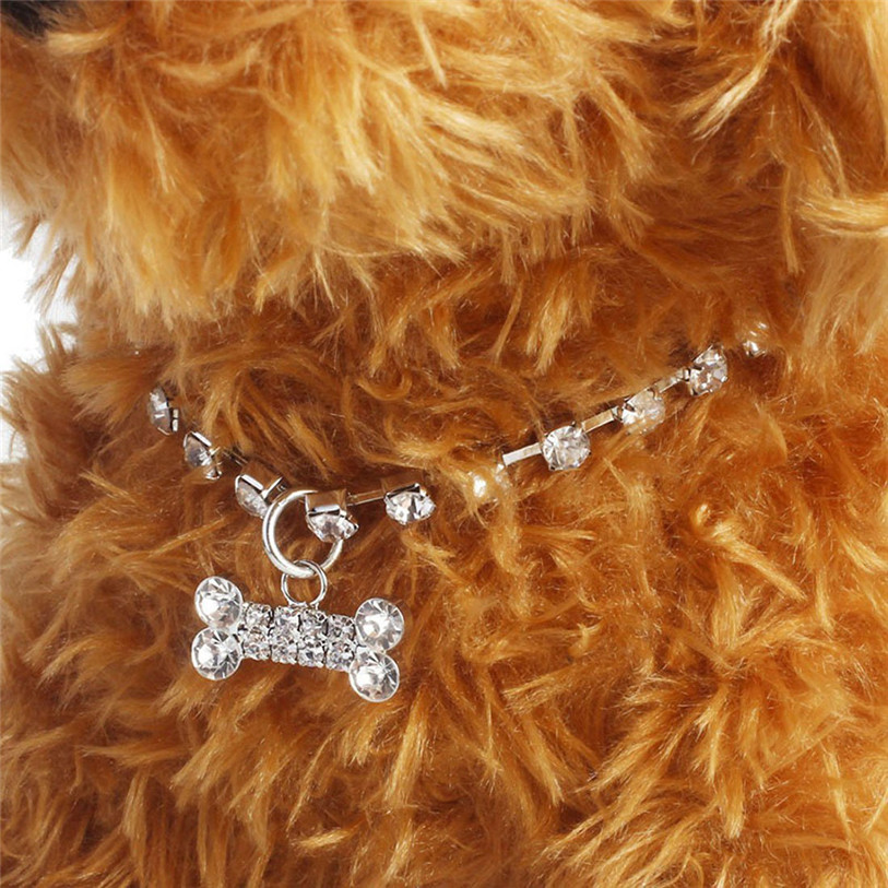 Bling Full Rhinestone Alloy Dog Necklace Collar Pendant for Pet Puppy Small Dogs Cats Party Decor Dress Up Pet Supplies 40JA22 (7)