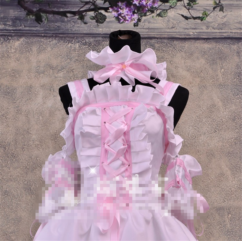 New Cos Anime Chobits Chi Pink And White Color Cosplay Dress Cosplay ... 9c6354c48fd4