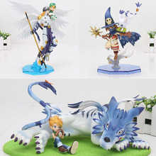 Digimon Adventure Digital Gabumon & Yamato figure Angemon Wizarmon anime Cartoon Toy PVC Action Figure Model Doll  13 22cm