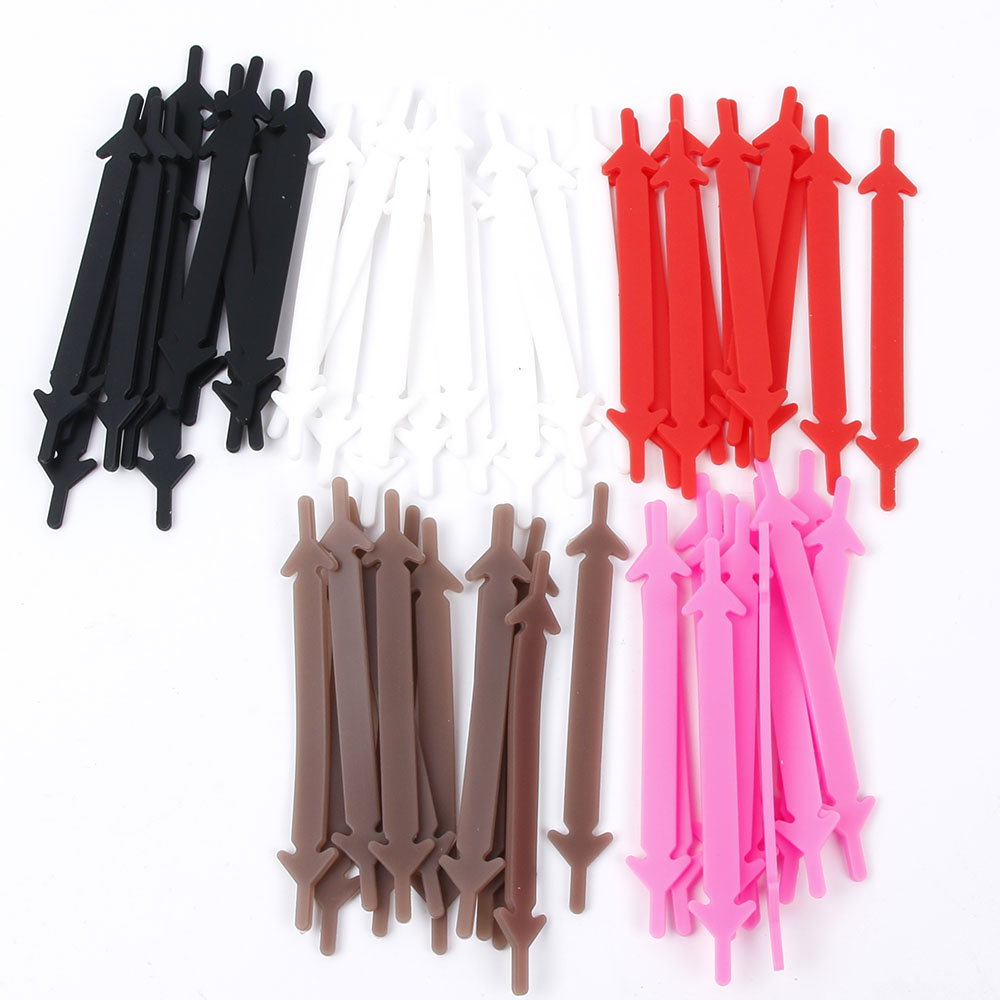2019 New 12pcs/lot Shoes Accessories Elastic Silicone Shoelaces Elastic Shoelace Creative Lazy Silicone Laces No Tie Rubber Lace