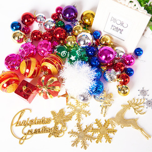 Image 4 - 70pcs/pack Beautiful Mixed Christmas Hanging Ornaments Shining Color Ball for Christmas Tree New Year Holiday Decoration