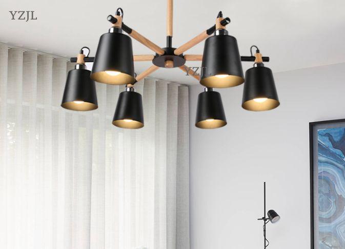 Nordic lamp Chandelier living Room restaurant bedroom modern industrial wind creative Japanese chandelier lighting fixture цена и фото
