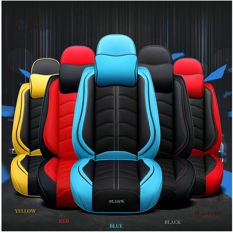 Image 5 - New Sports PU leather auto car seat covers for Audi all models a3 a8 a4 b7 b8 b9 q7 q5 a6 c7 a5 q3 car styling car accessoriesAutomobiles Seat Covers   -