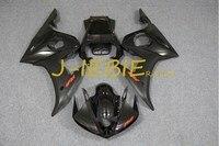 Black Injection Fairing Body Work Frame Kit for Yamaha YZF R6 2005