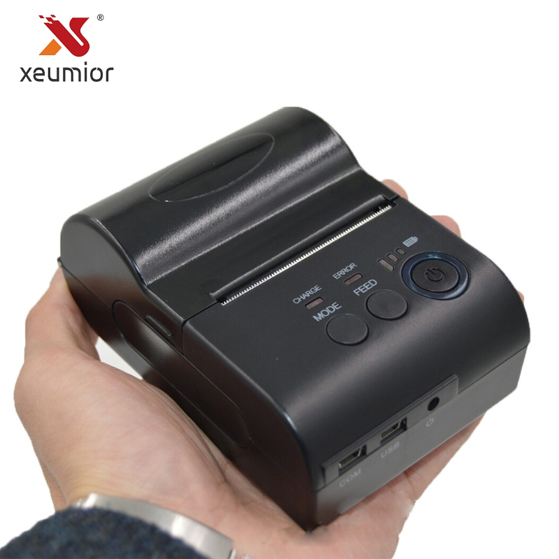Xeumior High Quality Bluetooth 58mm Mini Portable Thermal Receipt Printer Android IOS Handheld Mobile Pos Printer With Free Sdk portable bluetooth thermal printer mini 58mm bluetooth android and ios pos printer mobile usb receipt printer