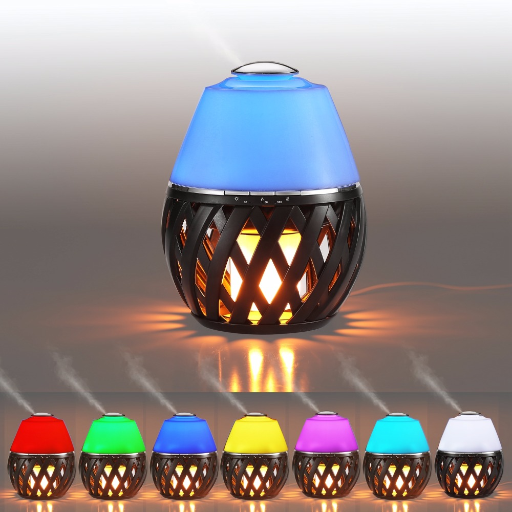 Artpad Modern 12W Ambient Light Lamp Aroma Diffuser Led Flame Light Color Changing USB Bedroom Night Light Warm White smiling face pattern color changing night light lamp white 3 x lr44