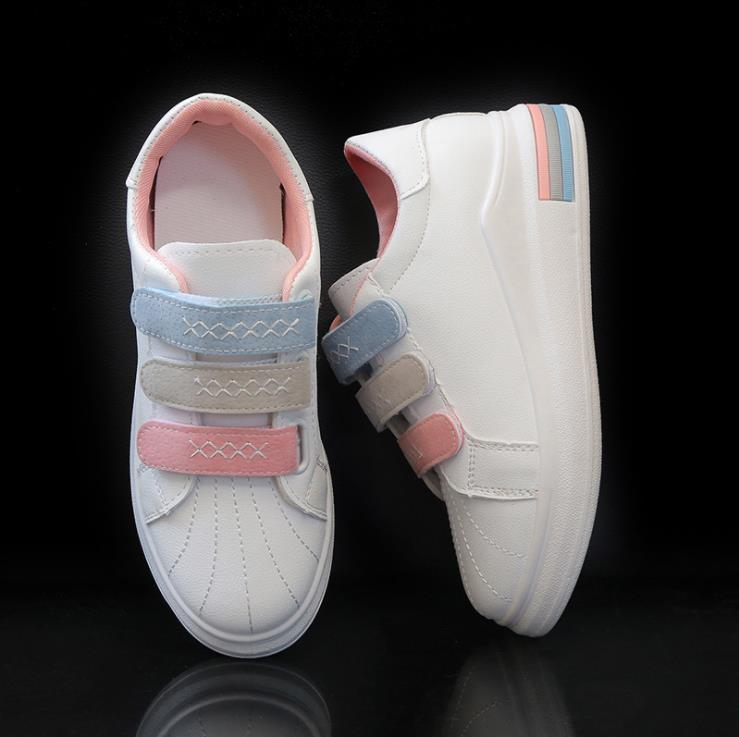 Printemps Épais Des 2019 Plat Chaussures Respirant Marque Mode Nouveau Fond Bleu De Sport Surface Femmes rose Occasionnels Maille OfwBYx