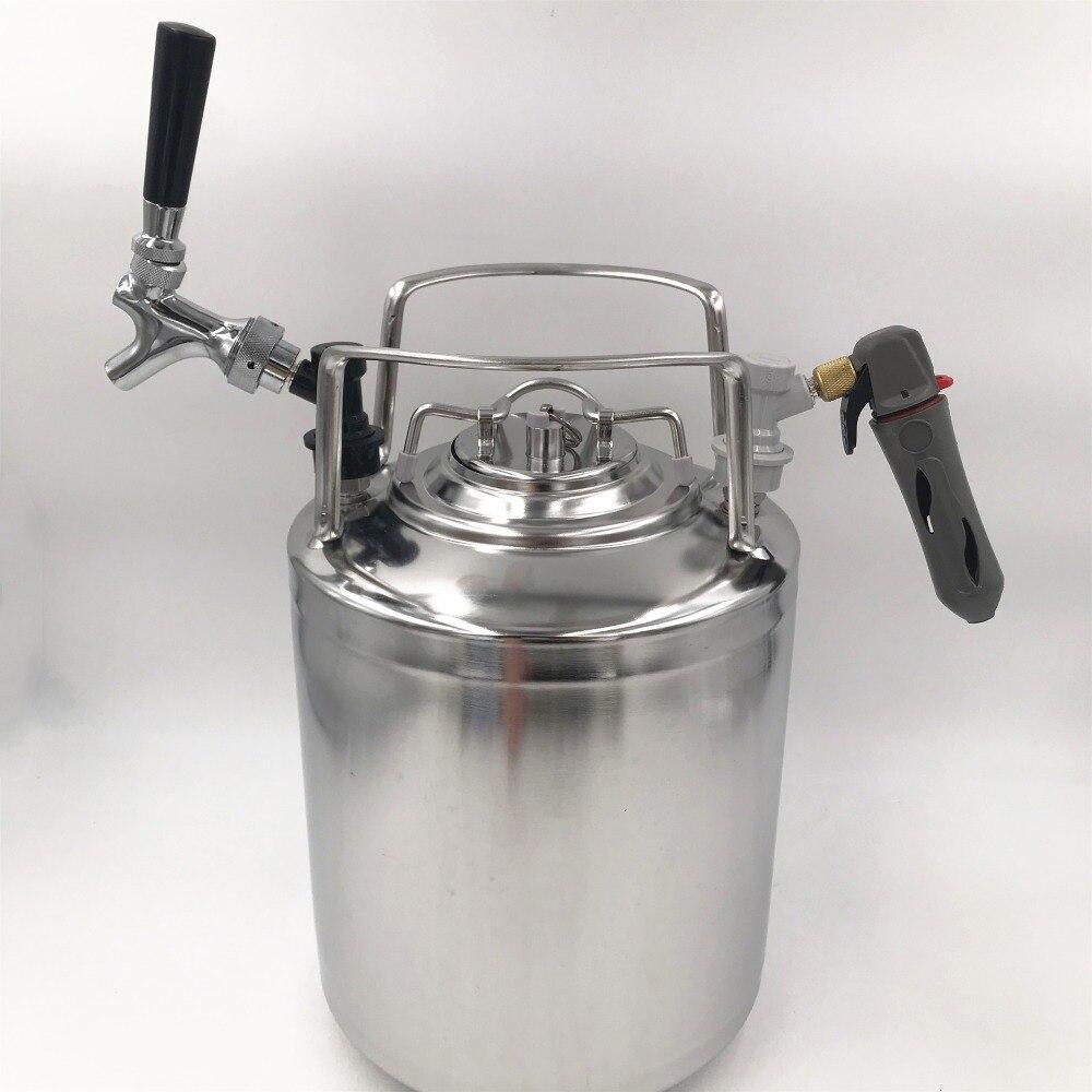 2.5 gallon 10L In Acciaio Inox 304 Barilotto di Birra e abeer rubinetto rubinetto e CO2 charger Kit per Homebrew birra di fermentazione bar-in Altri accessori bar da Casa e giardino su  Gruppo 1
