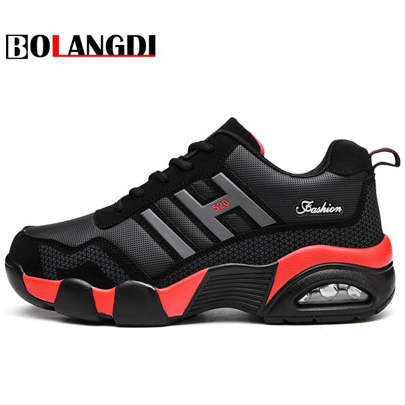 Bolangdi New Autumn Winter Men Women Running Shoes Warm Shoes Mens High Top Plush Boots Comfortable Air Cushion Sports Sneakers