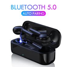 Bluetooth 5.0 Earphones Stereo Hifi Bass Earbuds Portable Noise isolating Headset Wireless Super Clear Earphones with Mic wireless business affairs bluetooth earphones pleasant 180 degree rotating stereo music headset noise cancellation earbuds eh