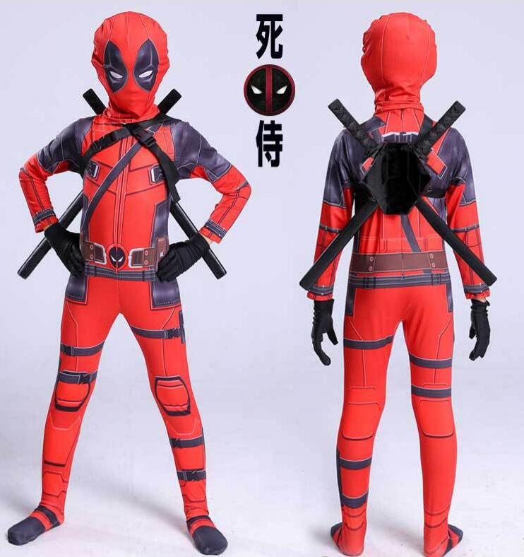 Popular Kids Halloween Costumes 2019.Us 7 42 25 Off 2019 High Quality Superhero Deadpool Costume Halloween Costumes For Kids Child Boys Spandex Zentai Suit Carnival Avengers Fancy On