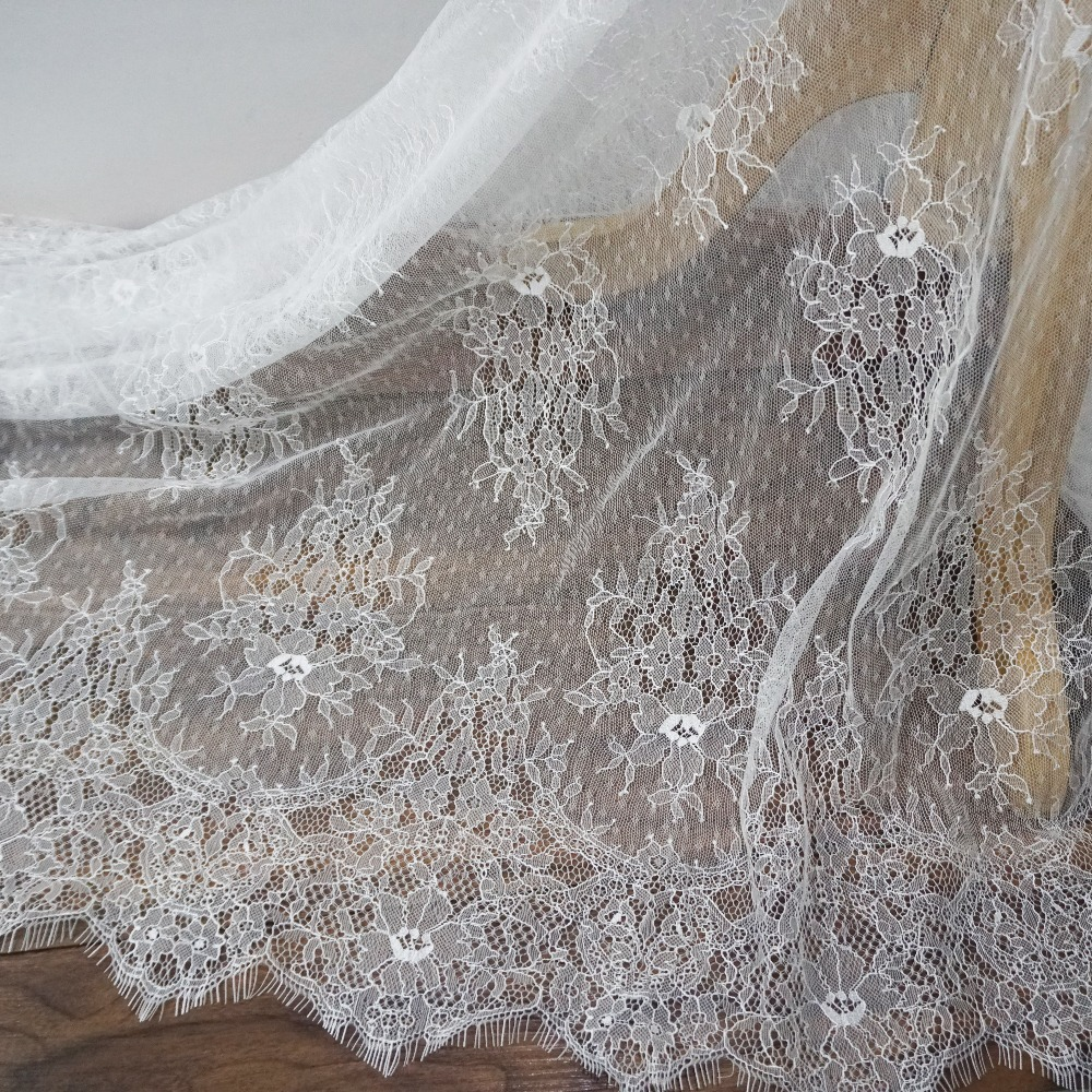 Light Khaki and Silver Floral Stretch Lace Dressmaking Fabric