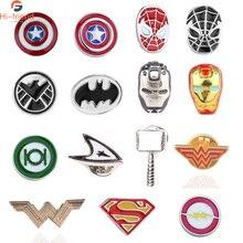 Movie The Avenger Spiderman Brooches Superhero Captain America Deadpool Wonder Woma Pin children Jewelry