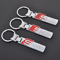 Fashion S line metal car logo key ring chain keychain keyring for audi A3 A4 A6L Q3 Q5 Q7 S3 S6 RS4 chaveiro llavero key holder