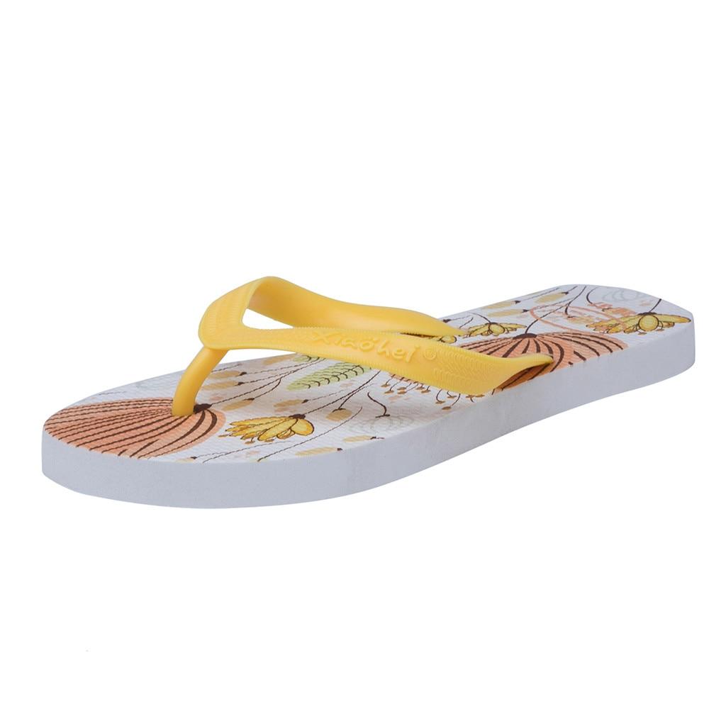 Frauen Schuhe Sagace Casual Mode College Frauen Gedruckt Anti-skid Flip-flops Boden Freizeit Clip Zehe Hausschuhe Sommer Slip-on Drucken Schuhe Diversifiziert In Der Verpackung Schuhe