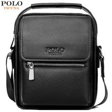 VICUNA POLO New Leather Man Shoulder Bag With Wallet Set Vintage Large Capacity Men Messenger Male Casual Crossbody