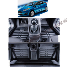 купить free shipping fiber leather car floor mat  for ford fiesta 2008 2009 2010 2012 2013 2014 2015 2016 2017 2011 6th generation онлайн