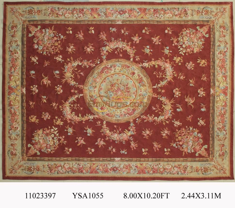 wool carpet french aubusson rugs 244cmx311cm 8u0027x 102u0027 the big red area rug