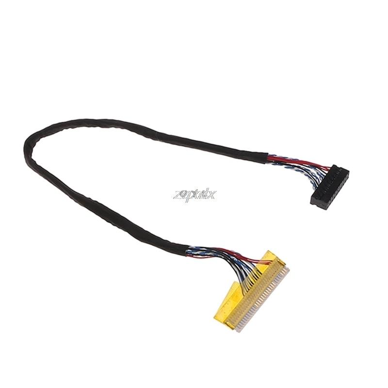 Универсальная фиксация 30-контактный 1-канальный 6-битный кабель LVDS 26 см для 14,1-15,6 дюймовой ЖК-панели Z17 Прямая поставка