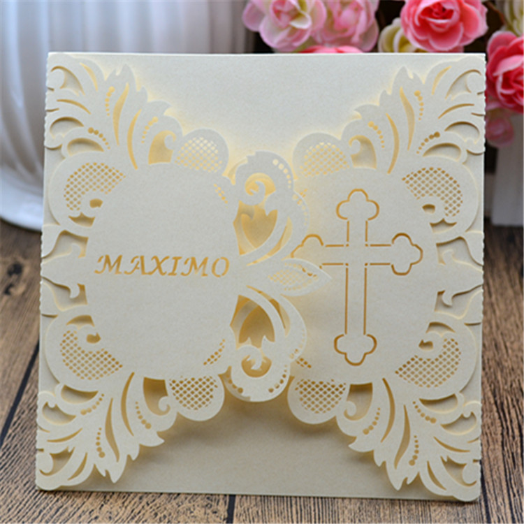 Religious Cross Christian Invitation For Wedding/personalised Christian  Wedding Cards