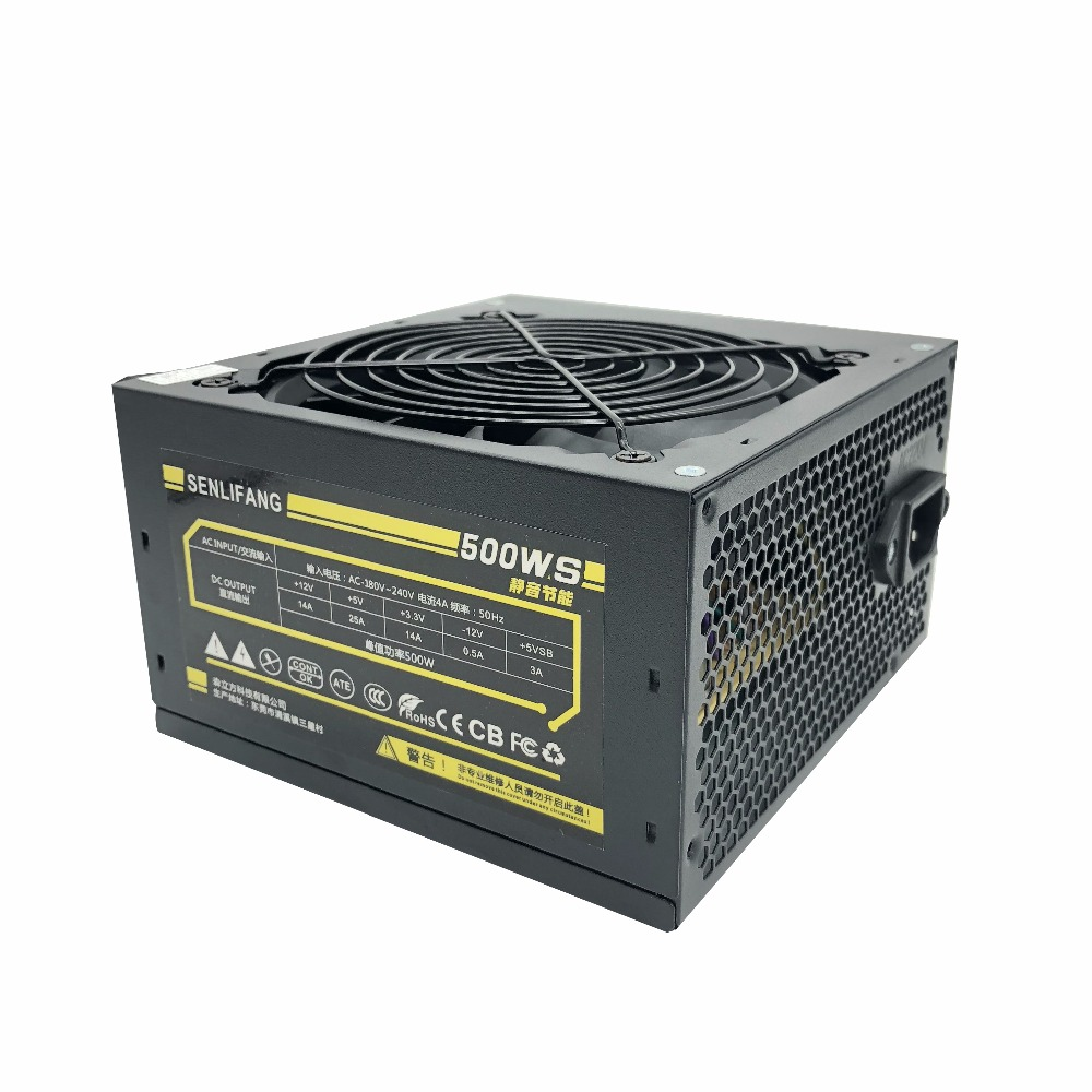 Image 3 - 500W Max Silent Power Supply for 180V 240V Red fan blade PC Desktop Computer Power Supply PSU PFC-in PC Power Supplies from Computer & Office