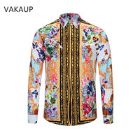 Mens Hawaiian Shirt Hombre Chemise Homme Shirts Luxury Meth Clothes Long Sleeve Dress Shirt Camisas Masculina Shirts Men For Men