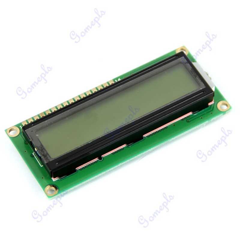 Modül ekran karakteri LCD 1602 16x2 HD44780 denetleyici sarı yeşil aydınlatmalı