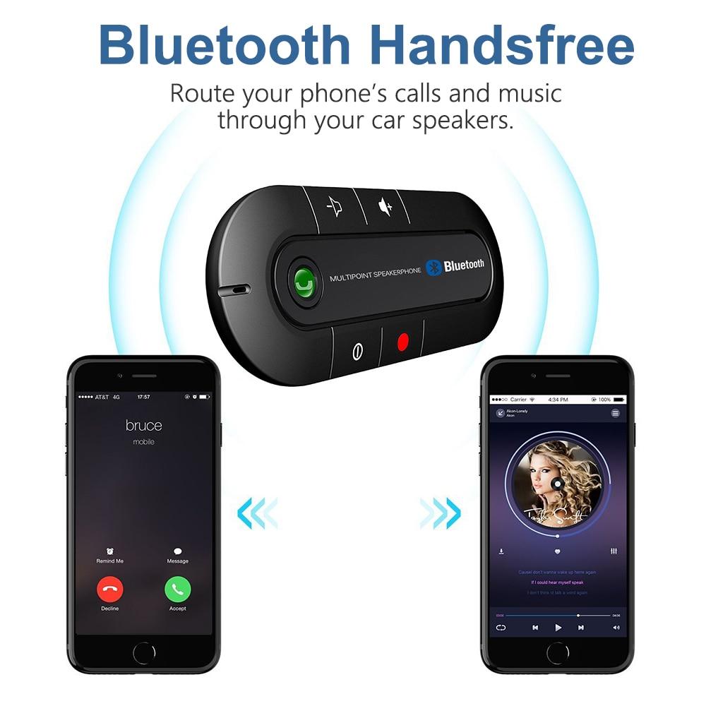2018 Mehrpunktspeakerphone 4,1 Edr Wireless Bluetooth Car Kit Auto Teile Freisprechen Fm Sender Mp3 Musik Player Seien Sie Freundlich Im Gebrauch