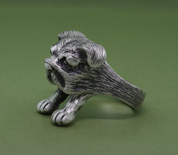 100% Quality 2016 New Trendy Adjustable Vintage Bulldog Ring Cute Handmade Carved English Animal Rings For Men And Women Hot Sale Buy One Give One