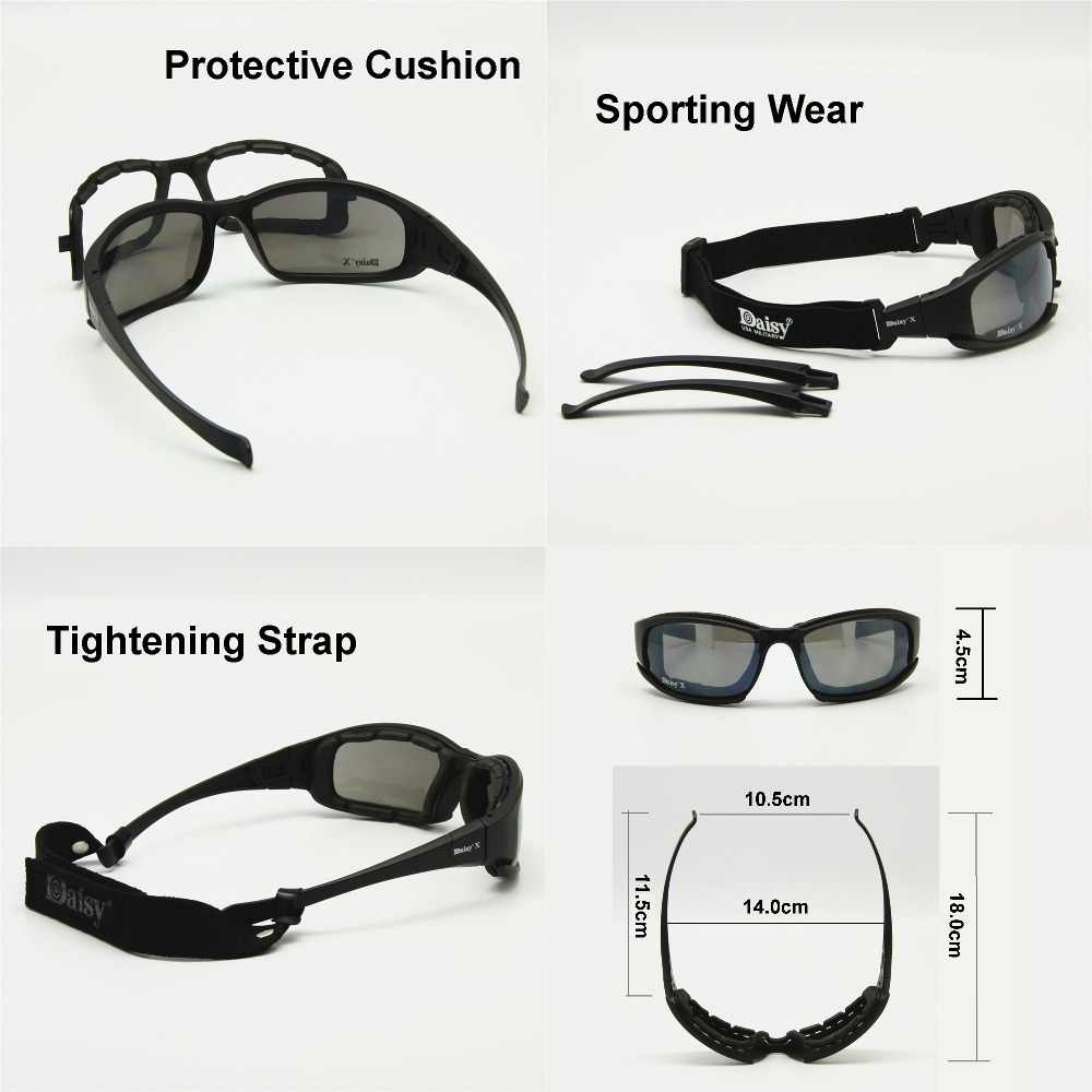 802b1345a65b ... Transition Photochromic Polarized Daisy X7 Military Goggles Army  Sunglasses 4 Lens Kit War Game Tactical Men s ...