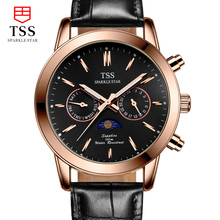 TSS Moon phase Astronomical chronograph stars men's watches quartz watch waterproof steel luminous business fashion watch men
