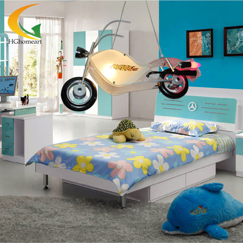 Children room modern minimalist bedroom Led pendant lights children creative pendant lighting cartoon boy hanging lamp