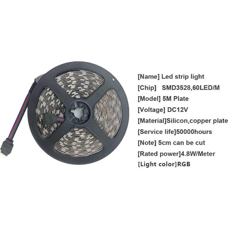 Tira de LED de 12V cinta de 2835 cinta de diodo Flexible RGB blanco cálido azul verde rojo amarillo potencia iluminación impermeable 5M