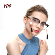 YDO Reading Glasses Chain Vintage Lace for Sunglasses Spectacle Cord Non-Slip Metal Copper Tassels Eyeglasss
