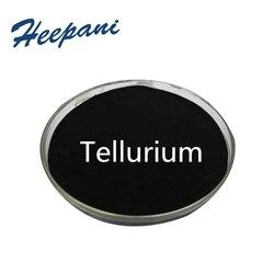 Бесплатная доставка Tellurium порошок с 99.9% чистоты Te Металл для полупроводников и электронной промышленности использования