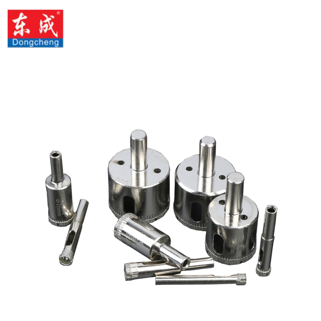 Dongcheng Glass Drill 51-57mm Diamond Coated Core Hole Saw Drill Bits Tool Cutter For Tiles Marble Glass Granite Drilling