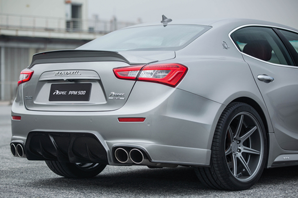 For Maserati Ghibli FRP Unpainted Primer Rear Trunk Boot Lip Spoiler Wing 2013 2015