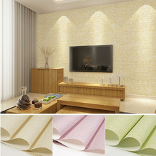 New Precision 4D European Wallpaper Compact Non-woven Environmentally Friendly Pure Color Hotel Engineering