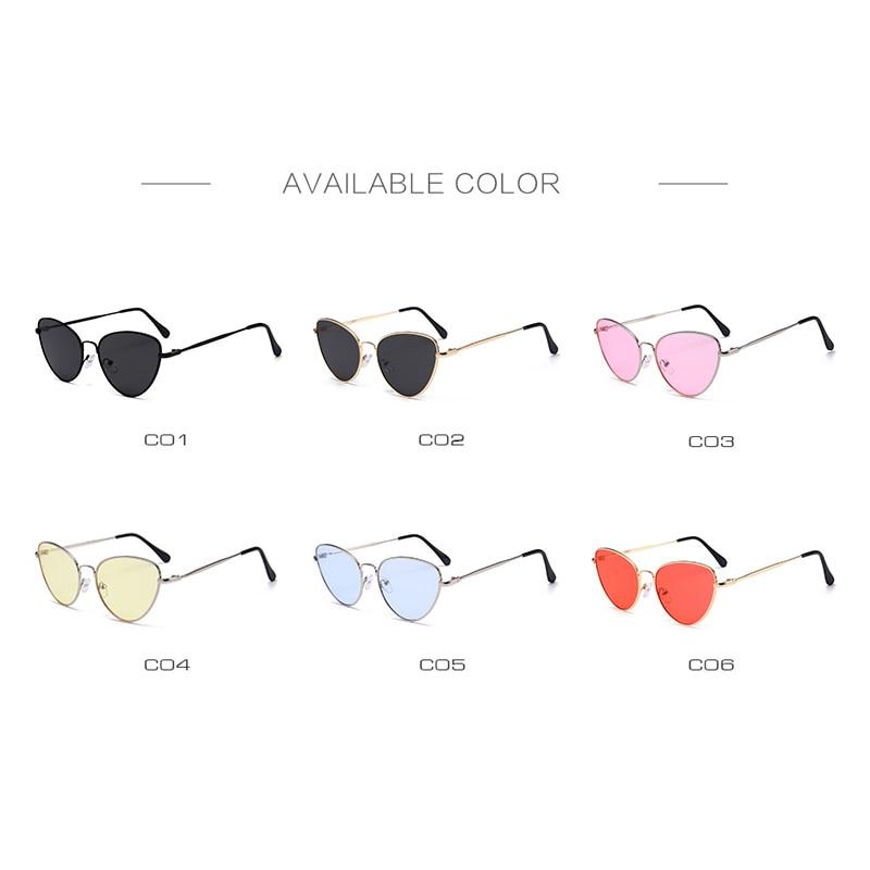 Sexy Small Vintage Cat Eye Sunglasses Women Vintage Red Black Sun Glasses Female Ladies Cateyes Sunglass