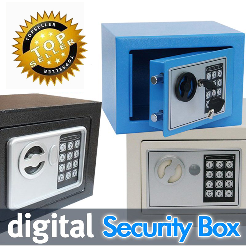 Digital Safe Box For Home Office Use Mini Security Box Keep Cash Jewelry Documents Securely Money Safe Cofres