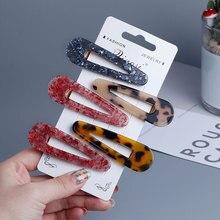 Long Hair Clip Aligator Clamp Barrettes Hairpin for Women Girls Geometric Sequin Foil Hair Pins Decorative Hair Accessories 2pcs