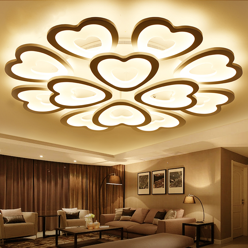 Modern Led Heart Acrylic Ceiling Lights For Living Room Bedroom Dining Room Home Ceiling Lamp