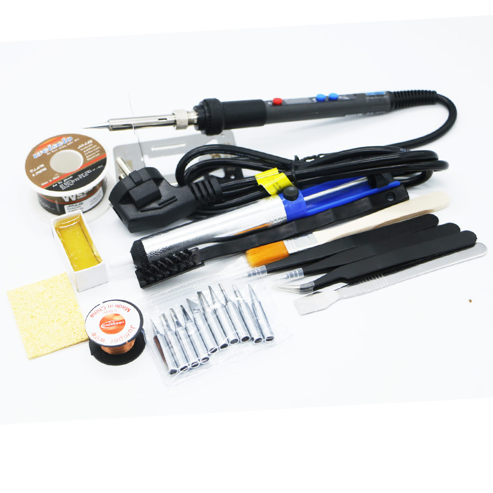 2019 New 220V 90W  Quick Heating Protable LCD Temperature Digital LED Adjustable Electric Soldering Iron
