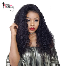 Ever Beauty Lace Front Human Hair Wigs For Black Women 250% Density Brazilian Curly Remy Hair Medium Cap Size