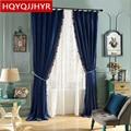 Высококачественные шторы в пол для спальни  Классические роскошные однотонные затемненные шторы в пол для гостиной/кухни  на заказ