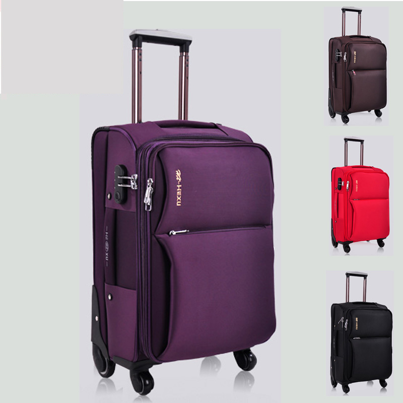 Universal wheels trolley luggage travel bag luggage 24 20 luggage oxford fabric box the wedding box 28,high quality luggage