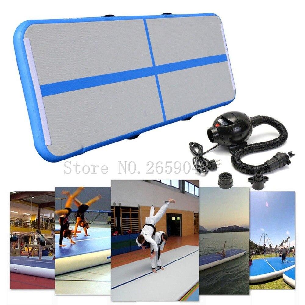 Tapis de gymnastique gonflable tapis de culbuteur Airtrack tapis de culbuteur gonflable pour usage intérieur/extérieur (3 m x 1 m x 0.1 m)