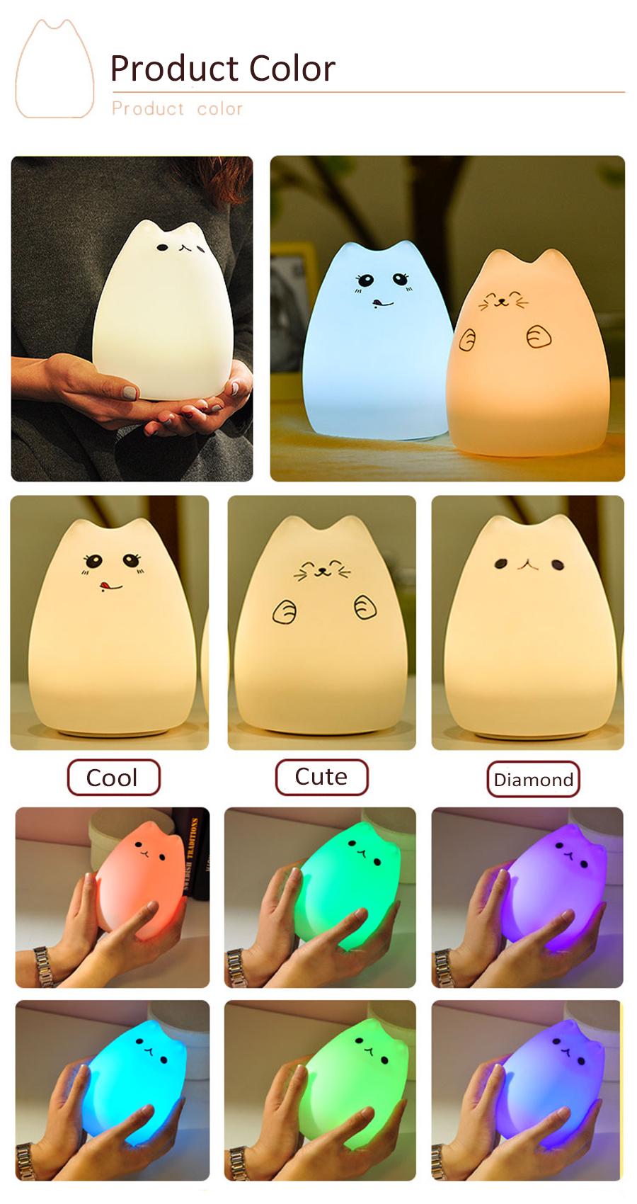 HTB1wI9ASpXXXXXCXpXXq6xXFXXXG - Lampka Silikonowa Kitty LED