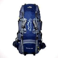 80L Innenrahmen Rucksack Wandern Rucksackreisen Packs für Outdoor-reisen Klettern Camping Bergsteigen mit Regen Abdeckung