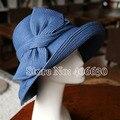 Verano sunbonnet sombreros de paja sombreros de cubo para las mujeres niñas femenino chapéu feminino ELDS-007 floppy sombreros envío libre